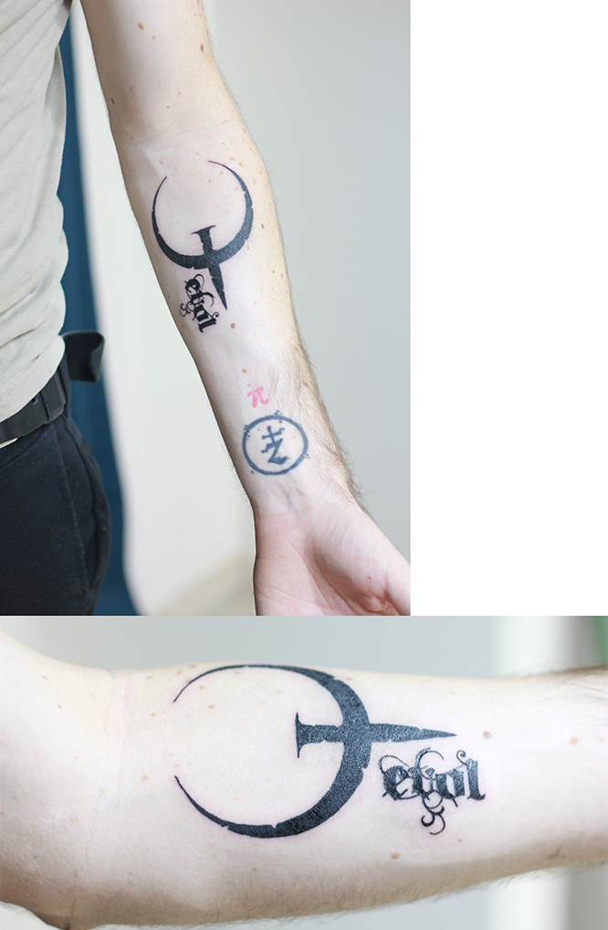 ESR - My new Quake tattoo  I love Quake! - Quake Live Forum