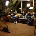 SK interviewed in the lounge