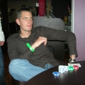 Me playing poker